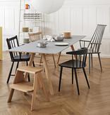 HAY CPH30 table (cadre en chêne laqué mat, plateau en linoléum gris) FAST TRACK