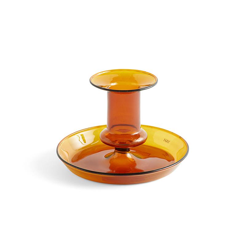 HAY Flare kaarsenhouder amber