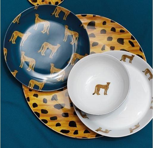 Fabienne Chapot Plaque de pâtes Cheetah 21.5cm