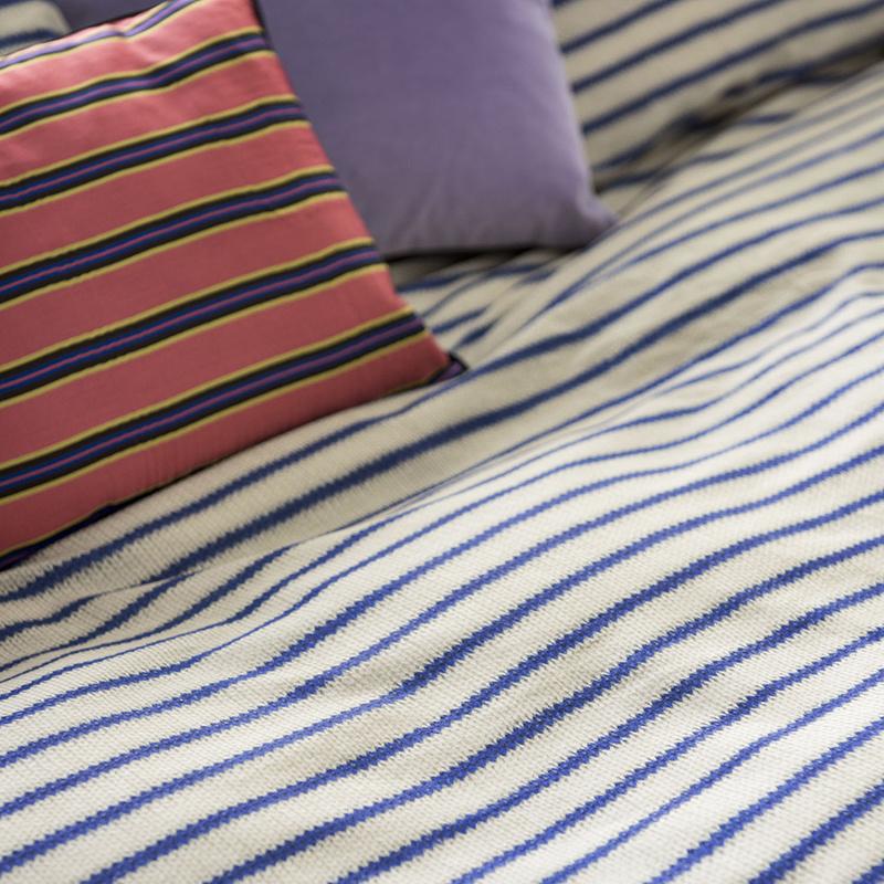 SNURK beddengoed FLANEL Breton Bonsoir blauw dekbedovertrek 1p