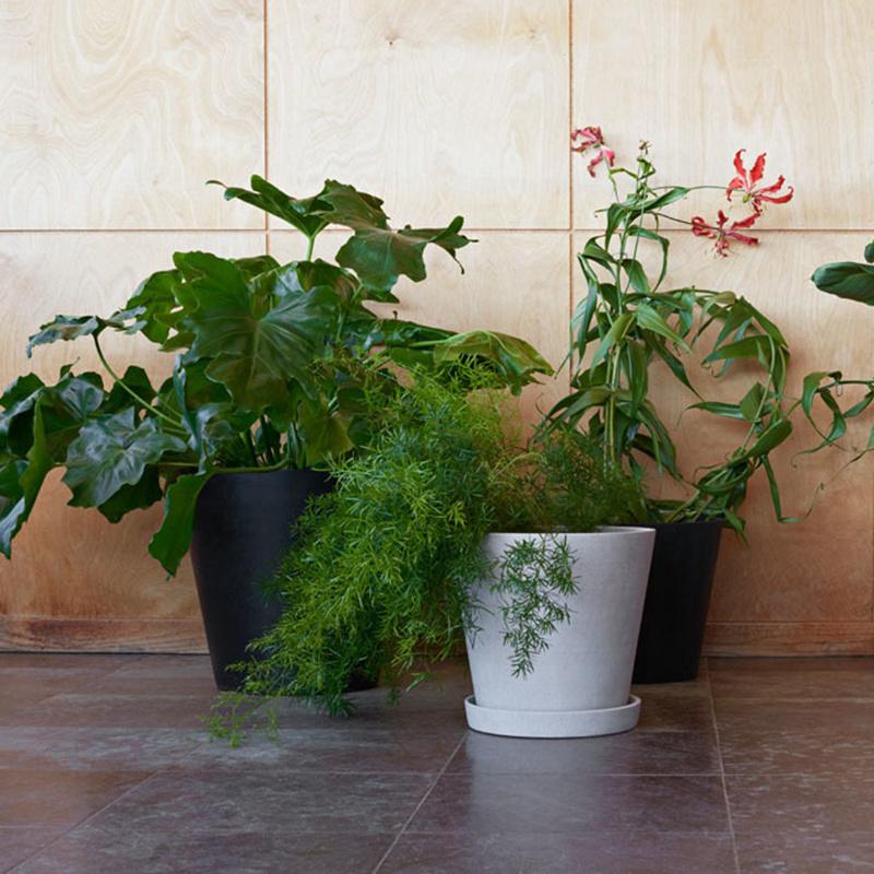 HAY Pot de fleurs avec échelle en polybéton XXXL