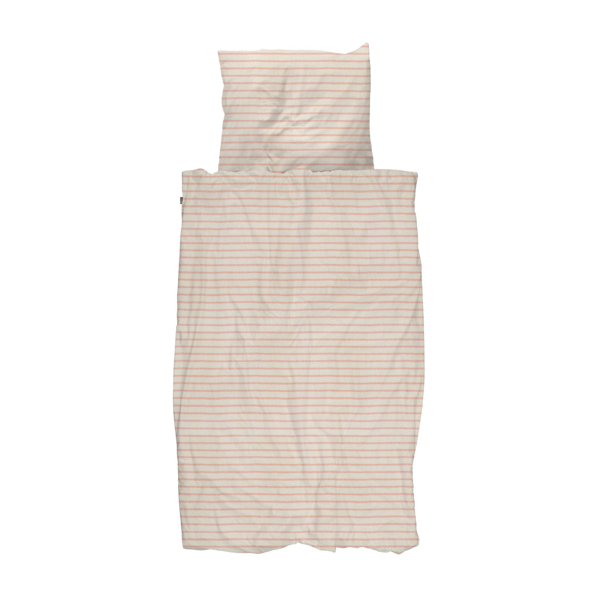 SNURK beddengoed Breton Bonsoir Pink dekbedovertrek 1p