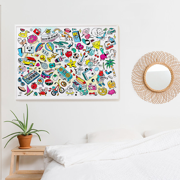 OMY Affiche couleur Baby Pop art - OMY