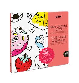 OMY Kleurposter Baby Pop art - OMY
