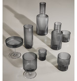 Fermliving Fermliving-Ripple wine glasses smoked (set van 2)