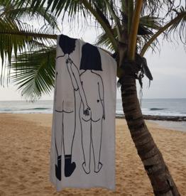 helen b Strandlaken naked couple back - Helenb
