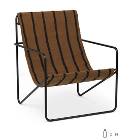 Fermliving Desert Lounge Chair -  Black / Stripes