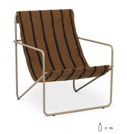 Fermliving Desert Lounge Chair -  Cashmere / Stripes