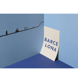 The Line Barcelona Skyline Wanddecoratie