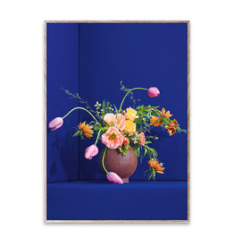 Paper Collective Blomst 01 / Blue Poster 30x40
