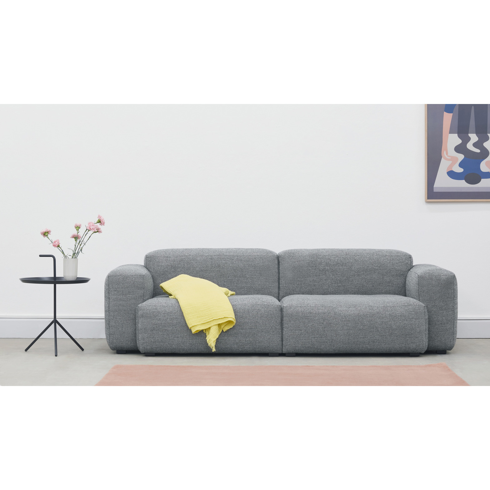 HAY MAGS soft low armrest 2.5 seater - combination 1