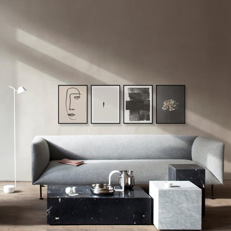 Paper Collective Cadre Noir Aluminium - Paper Collective