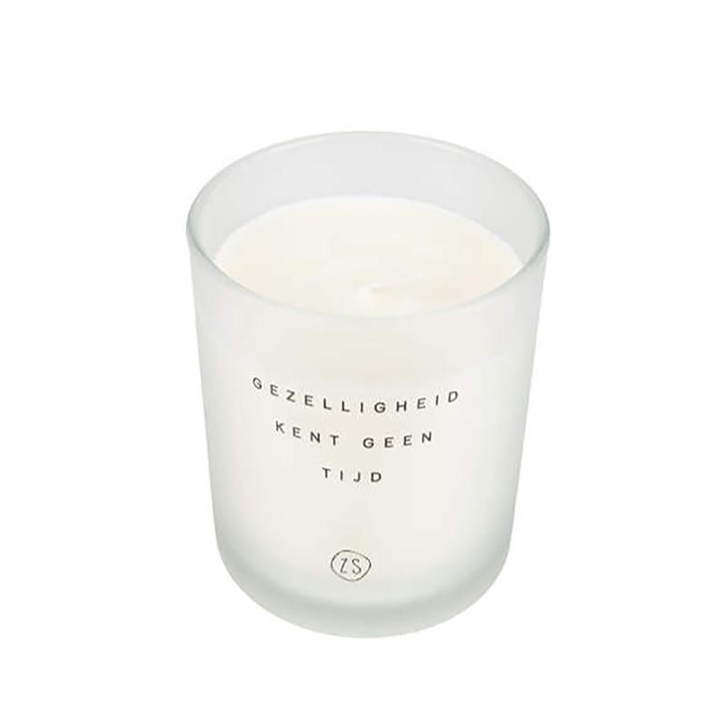 Zusss Bougie Parfumée en Verre 'Convivialité' Blanc - Zusss