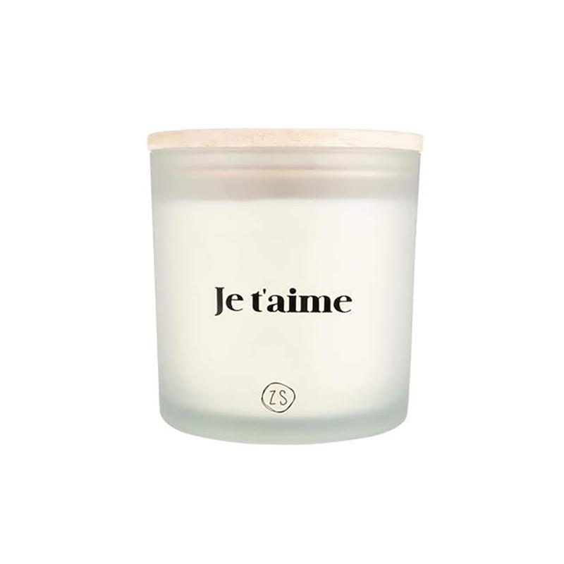 Zusss Bougie parfumée en verre 'je t'aime' blanc - Zusss
