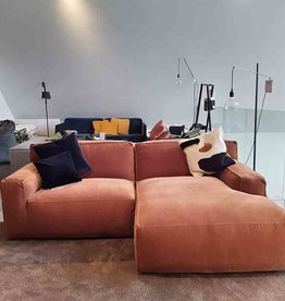 Fest Amsterdam Clay sofa avec longchair small - Royal 160 magnolia