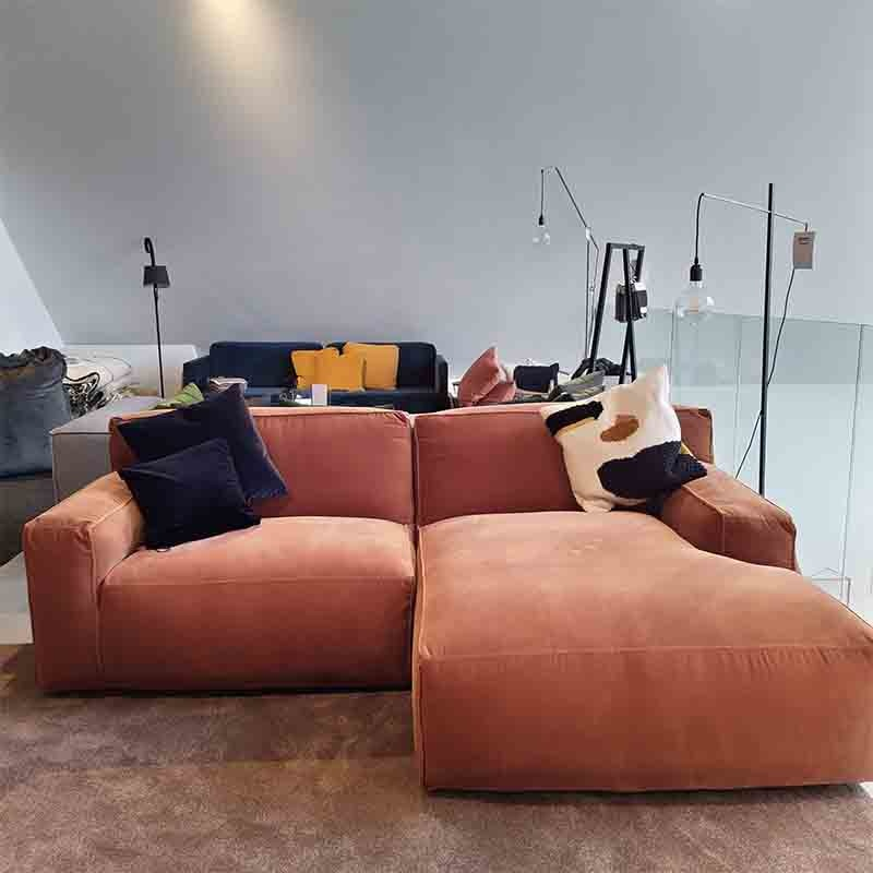 Fest Amsterdam Clay sofa - 1seat  arm left + longchair S  arm right -  Royal 160 magnolia -SHOWROOM-
