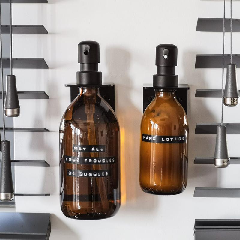 Wellmark Savon pour les mains en verre - noir - may all your troubles be bubbles - 500 ml