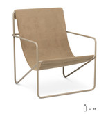 Fermliving Desert Lounge Chair - Frame Cashmere / Solid Cashmere
