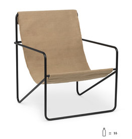 Fermliving Desert Lounge Chair - Black /  Cashmere