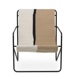 Fermliving Desert Lounge Chair - Black / Soil