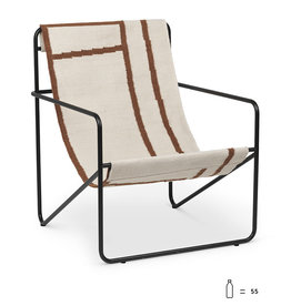Fermliving Desert Lounge Chair -  Black / Shapes