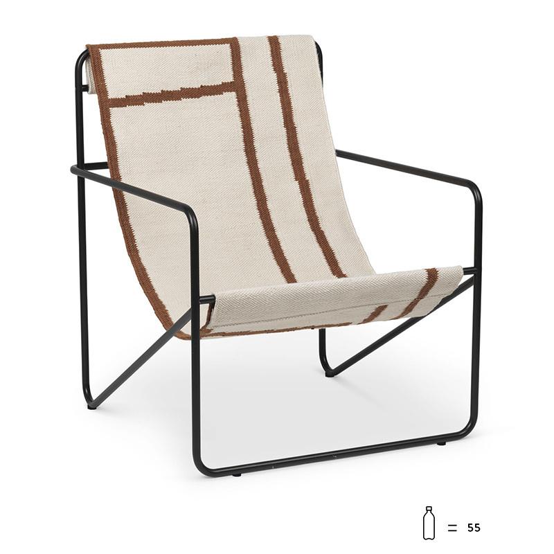 Fermliving Desert Lounge Chair - Frame Black / Shapes
