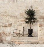 Fermliving Desert Lounge Chair - Frame Black / Sand