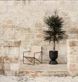 Fermliving Desert Lounge Chair - Frame Black / Solid Cashmere