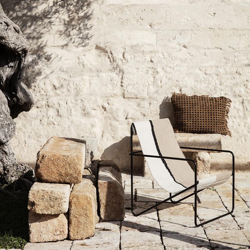 Fermliving Desert Lounge Chair - Frame Black / Soil