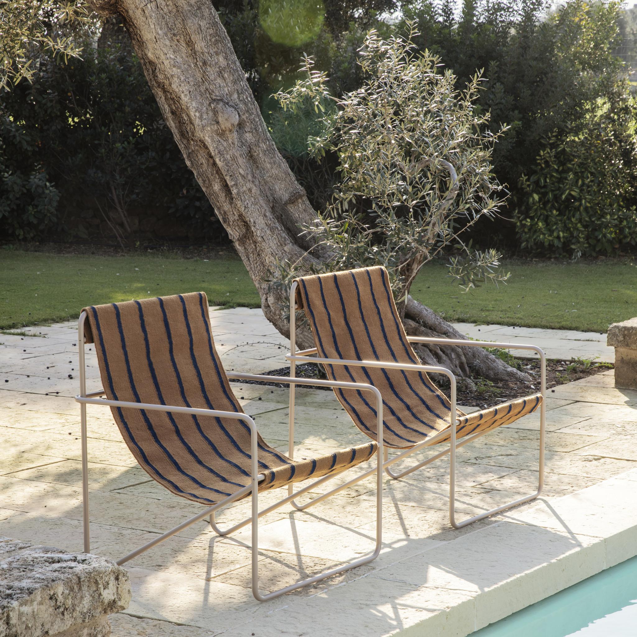 Fermliving Desert Lounge Chair - Frame Cashmere / Stripes