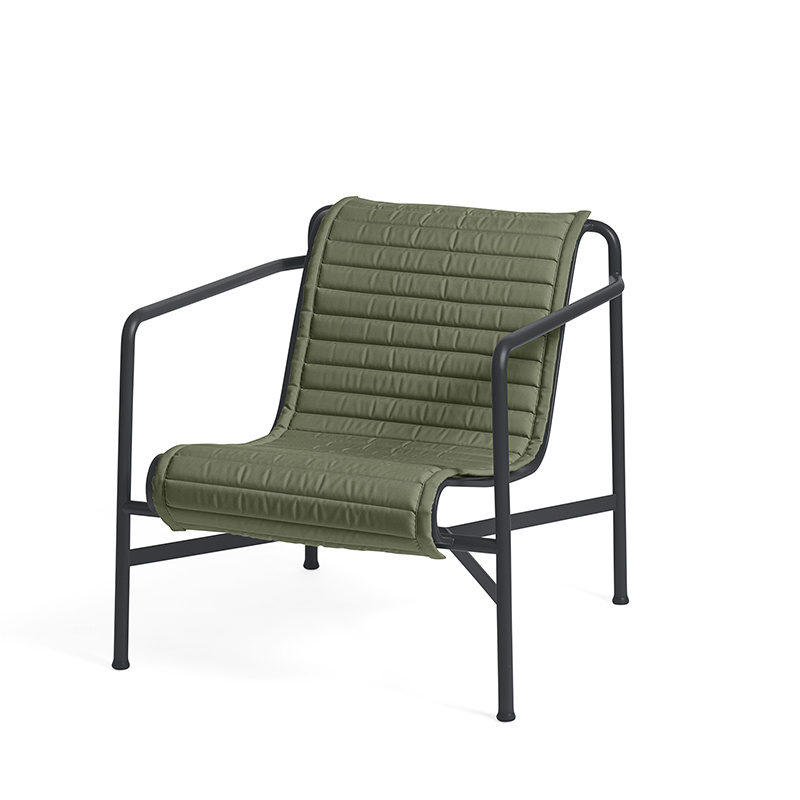 HAY Palissade lounge chair low quilted cushion HAY