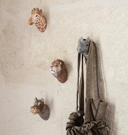 Fermliving Crochet mural tête d'animal