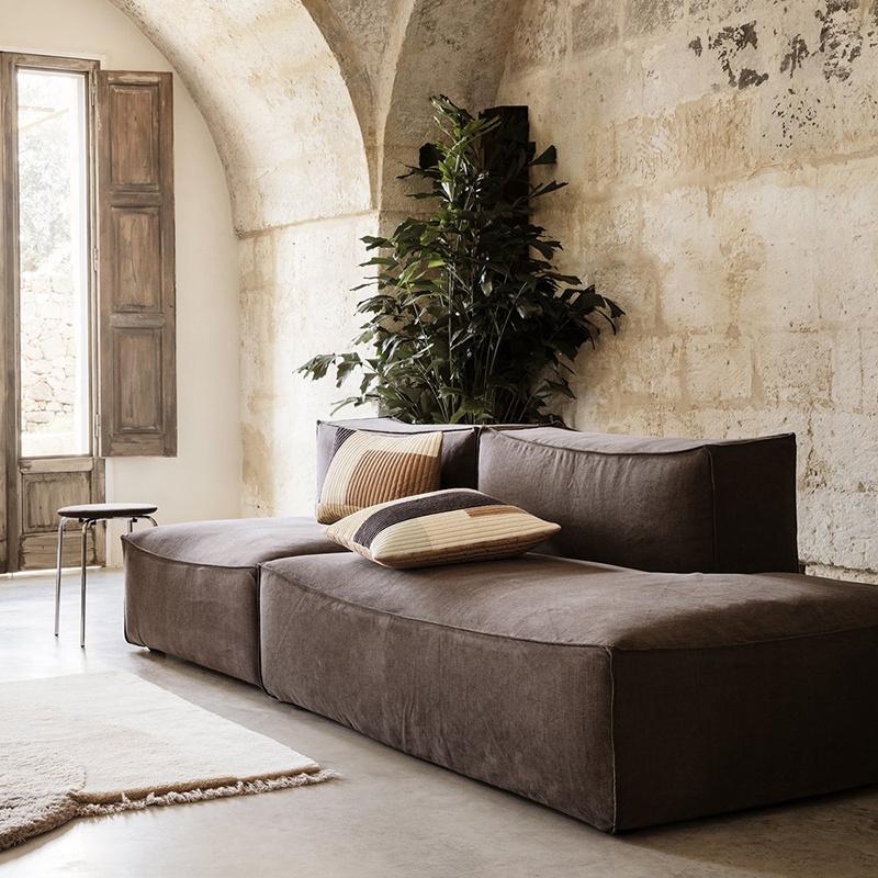 Fermliving Shay quilt cushion 50 x 50 desert Fermliving