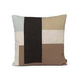 Fermliving Shay quilt cushion 50 x 50 desert