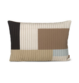 Fermliving Shay quilt cushion 60 x 40 desert