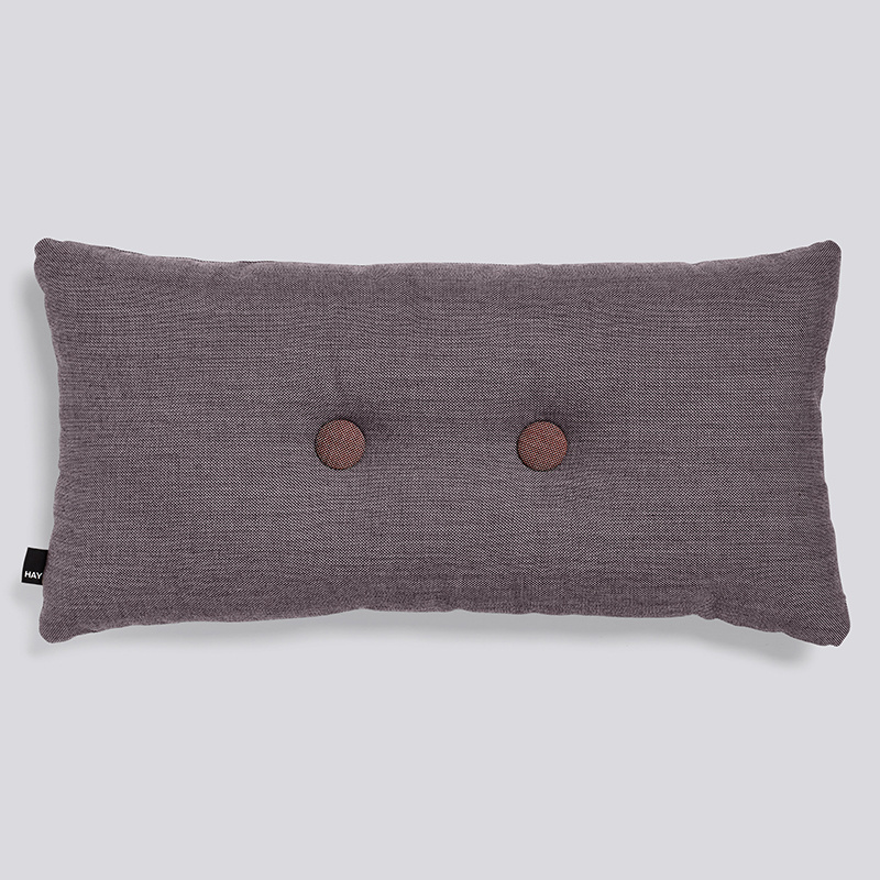 HAY Dot cushion - 2 dots - Greyish Burgundy