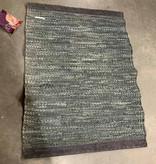 Rug Solid Rug Solid tapijt leder - donker grijs 60 x 90