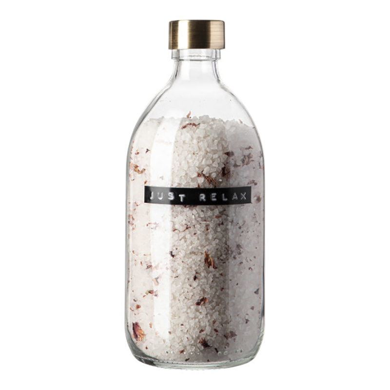 Wellmark Sels de bain en bocal de verre