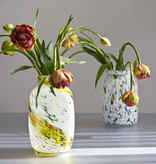 HAY Splash Vase Roll Neck M - White Dot
