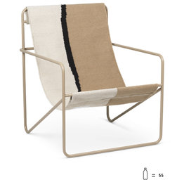 Fermliving Desert Lounge Chair - Cashmere / Soil