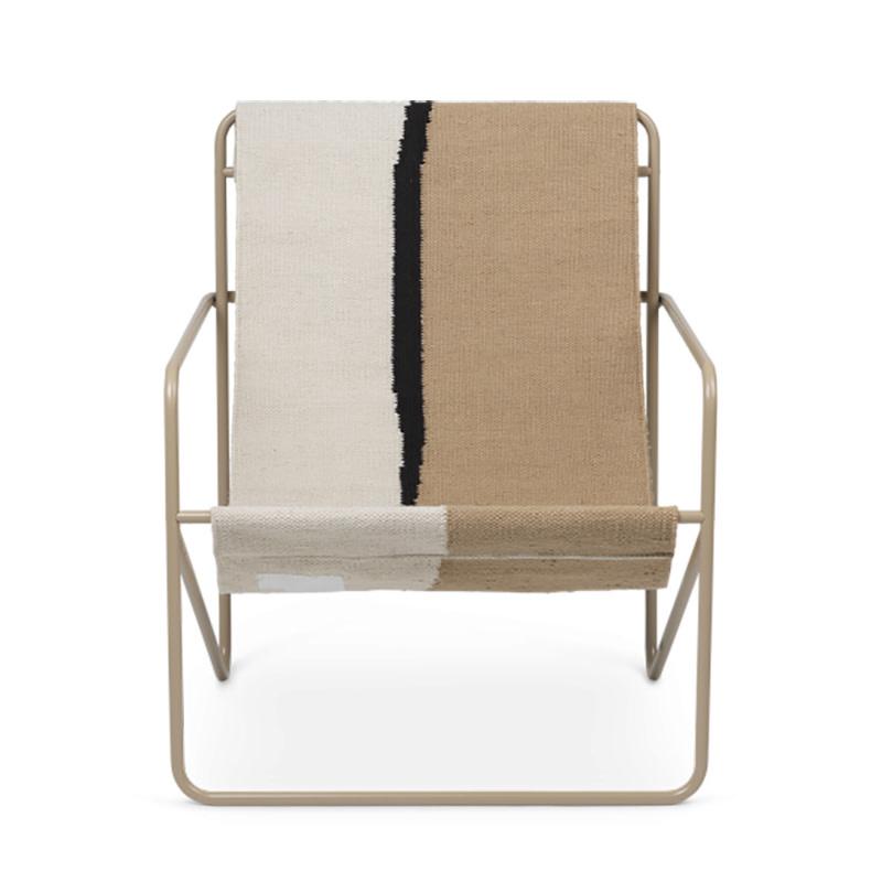 Fermliving Desert Lounge Chair - Cashmere / Soil