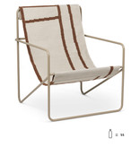 Fermliving Desert Lounge Chair - Cashmere / Shapes