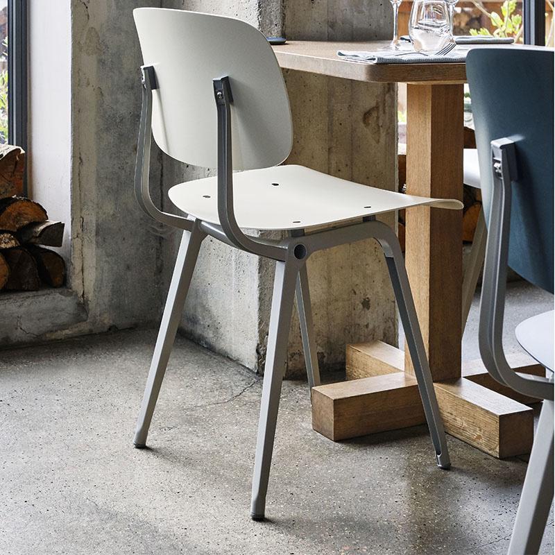 HAY Revolt chair - black powder coated steel frame