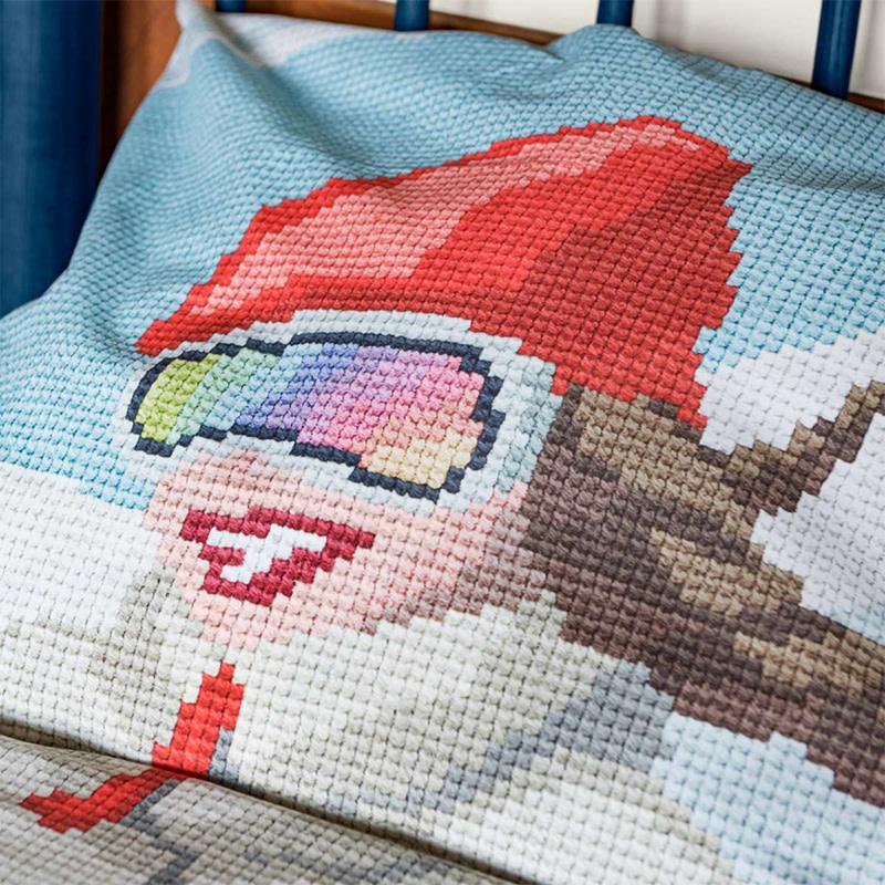 SNURK beddengoed Housse de couette Ski girl 1p