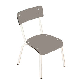 Les Gambettes Retro chaise Colette (+6j) taupe