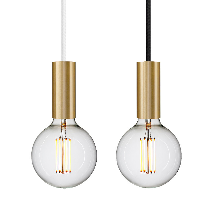 NUD Collection Tube Rail Messing lampe suspendue