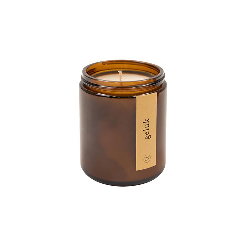 Zusss Bougie parfumée dans un bocal en verre 'bonheur'