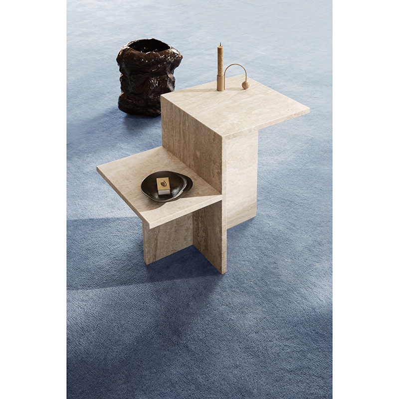 Fermliving Distinct Table d'appoint Travertin