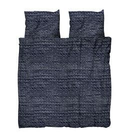 SNURK beddengoed FLANEL Twirre Charcoal Black dekbedovertrek 2p