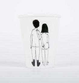 helen b Tasse imprimée - Naked couple back
